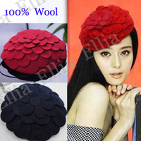 Wholesale Winter Hats Ladies fedora Cap Warm Stylish Dome Hats Wool Best Christmas Gift Discount MZ526
