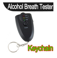 Wholesale Accurate Alcohol Breath Tester Breathalyzer Digital Analyzer LED Light Keychain