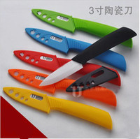 Wholesale ceramic knife set kitchen tools quot fruit knife ceramic knives colorful handle Free BY FEDEX