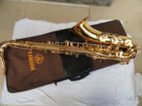 Wholesale Very durable YTS B flat tenor saxophone in F surface gold