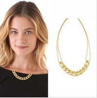 gold chains - 18K Gold Chain Necklaces Women s Short Chokers Necklacea Jewelry Fashion Accessories QT