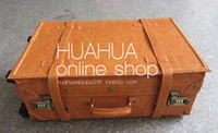 Wholesale Japan and South Korea retro orange simulated leather trolley case lockbox multi use hand held neutra