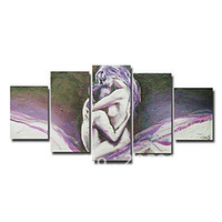 More Panel Oil Painting Abstract Framed 5 Panels High End Huge Sex Nude Girl Making Love Wall Art Oil Painting on Canvas--XD00770