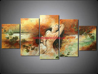 Wholesale Framed Panels Huge Wall Art Nude Women Naked Girls Modern Oil Painting on Canvas Picture XD00568