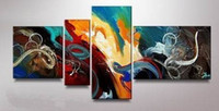 Cheap Modern Abstract Large Wall Decorate Oil Painting On Canvas Art 4pc