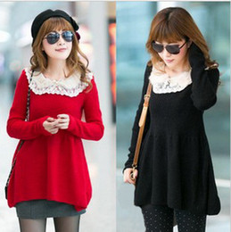 Wholesale New Autumn Winter Lace doll collar Pregnant women Sweater Maternity sweater Maternity Clothes YZM15