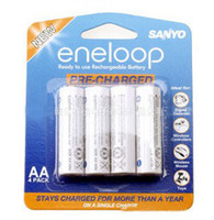 Wholesale 20Pack Batteries SANYO AA eneloop mAh Pre charged Rechargeable Battery by EMS or DHL