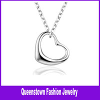 Wholesale Silver Heart Pendant Necklaces Jewelry Charm Pendant Necklaces