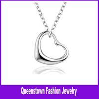 Wholesale Silver Heart Pendant Necklaces Jewelry Charm Pendant Necklaces