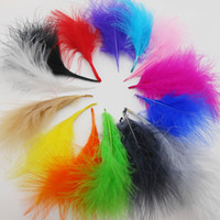 Wholesale cm colors Natural Turkey Marabou washed Feather wedding decoration