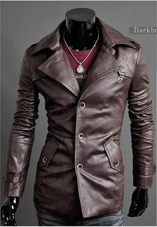 High Quality Men Leather Jackets Fashion Washed Skin Single ...