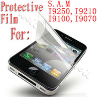Wholesale Defilition LCD screen protector film for Samsung i9250 i9210 retail package