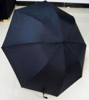 Raining mini folding umbrella - Creative Cool Mini Atlantic Gun Handle Black Folding Umbrella Auto Release Fashion Black umbrella Ultralight models