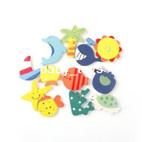 Wholesale Wooden Cartoon Fridge Magnet Pattern random