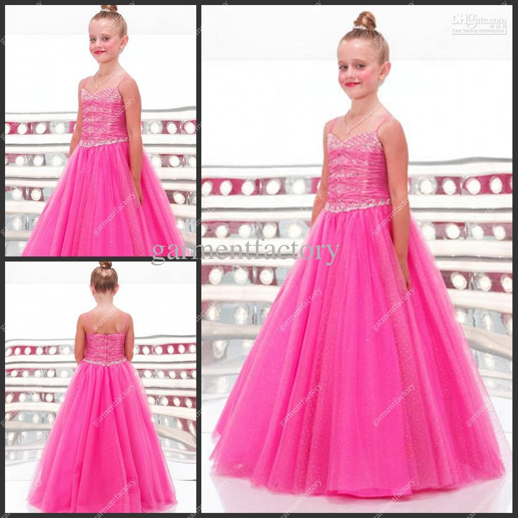 2012 Hot Sales Kids Evening Gowns Spaghetti Strap A Line Long Top ...