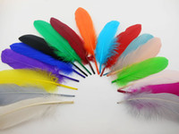 Wholesale cm Feather colors DIY Natural Goose feather wedding decoration