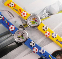 Wholesale Unisex Sport D Football Student Watches Children Candy mens Silicone Jelly Kids Cartoon Boys Girls