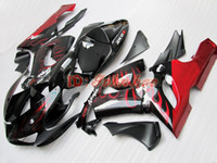 ABS For Kawasaki 2006 Red Flames motorcycle parts For Kawasaki ZX6R 636 2005 2006 ABS ZX-6R 6R 05 06 ZX 6R FAIRING BODY WORK Bodywork hy5