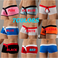 Wholesale New Mens Boxer Briefs Sexy Man Underwear Comfort Pouch Shorts Size M L Color