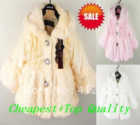 Wholesale PROM baby chilren girls beautiful winter coat overcoats warm fleece outfit jacket