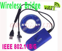 Wholesale Wireless Bridge VAP11G RJ45 WIFI Bridge For Dreambox S3 PC Camera TV B G WIFI Adapter Retail
