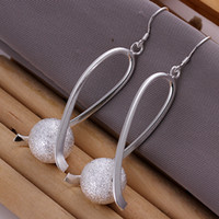 Wholesale E133 silver shiny sexy drop earring boy love woman girl stud earrings