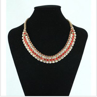 Wholesale 2013 New Hot Sale Super Luxury Zircon Inlaid Stone Necklace Noble temperament