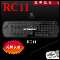 Wholesale D RC11 G Mini Wireless Keyboard Fly Air Mouse for Android Dongle for MINI PC TV Player Free Ship