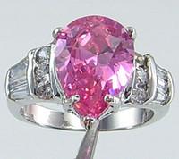 Unisex 14k gemstone ring - Fashion Jewelry womens ring ct pink gemstone ring diopside rings solid k white gold