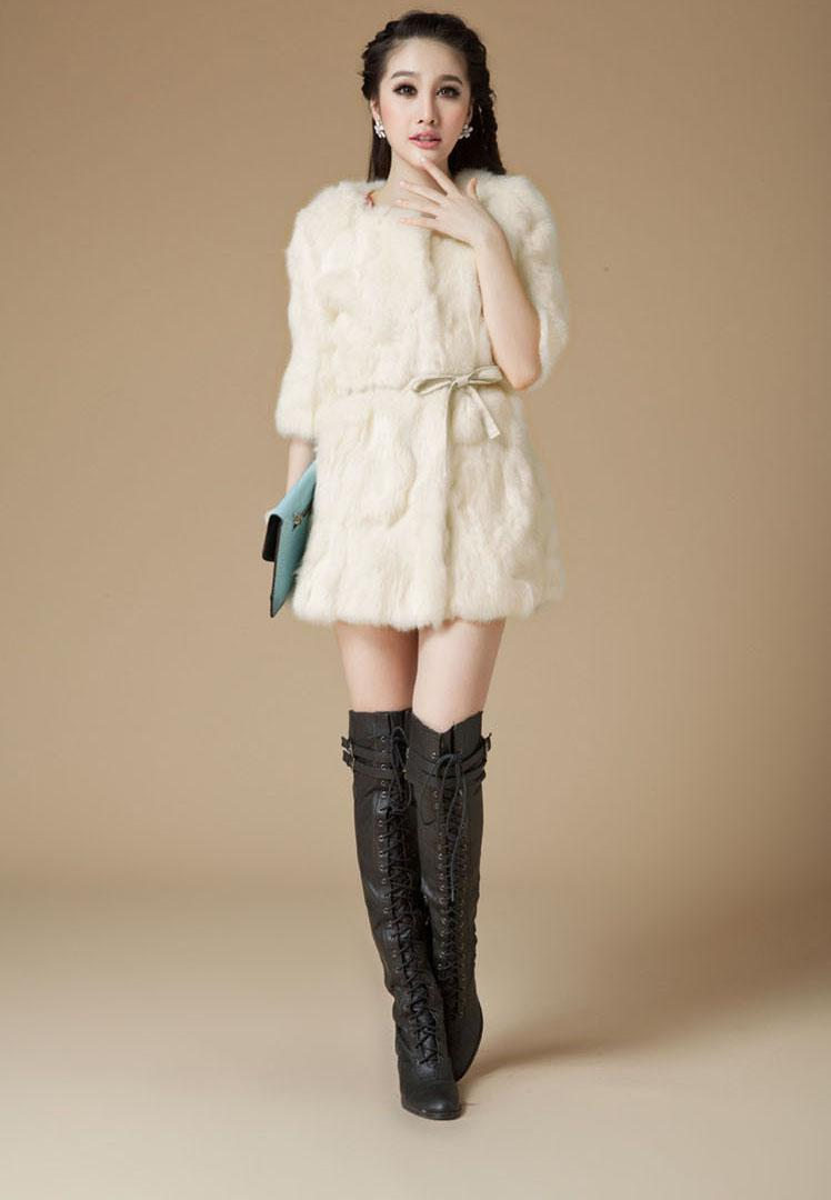 Rabbit Fur Coats For Women | Down Coat