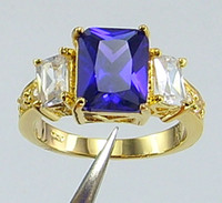 tanzanite rings - Fashion Jewelry womens ring ct Tanzanite gemstone ring diopside rings solid k yellow gold