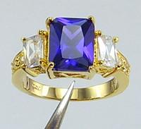 tanzanite ring - womens ring ct Tanzanite gemstone ring diopside rings solid k yellow gold