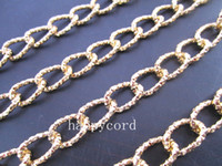 Traditional Charm aluminum bronze plate - Mixed color mmx13mm gold and light bronze color Aluminum chains metres