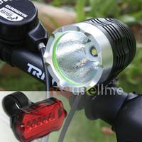Wholesale 1800 Lumens CREE XML XM L T6 LED Bicycle Lamp bike HeadLight Headlamp Tail Light