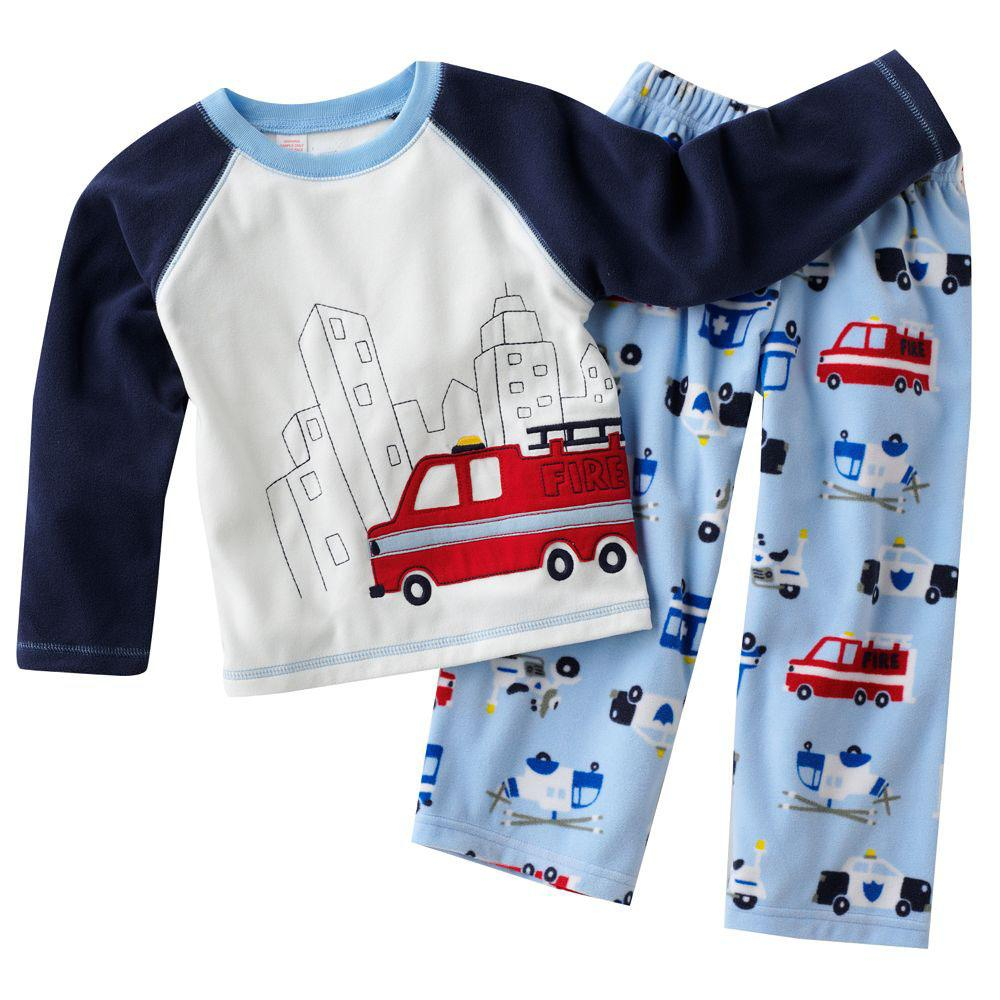 2017 Christmas Baby Pajamas Children's Nightwear Boys Girls Suits ...
