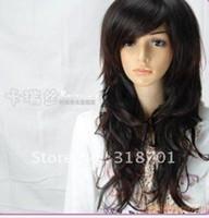 amazing wig - New Fashion inch Amazing Long black Turnup Side Bang Hair Cosplay Wig