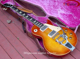 Wholesale Standard custom shop Honey Sunburst Tremolo vibrato electric guitar China Guitar
