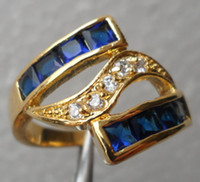Wholesale womens ring ct Tanzanite gemstone ring diopside rings solid k yellow gold