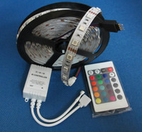 Wholesale 5M LEDs LED Strip light non Waterproof RGB colors changeable Key IR remote controller