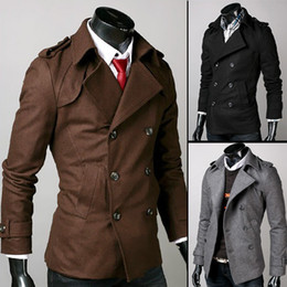 Wholesale New Men casual trench coats men Korean Slim Men Trench Coats