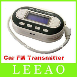 35pcs lot # Wireless LCD FM Transmitter Car Radio For MP3 CD Phone 4 Cell Phone Free Shipping