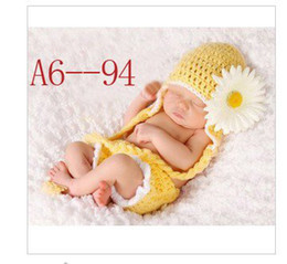 Wholesale Baby photography clothing infant animal designCartoon crochet suit Best gift Min order one