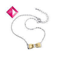 Wholesale No Min Order Neoglory Jewelry discount fashion ankle chain k gold plated bowknot