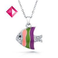 Halloween no min order - No Min Order Neoglory fashion rhinestone necklace fish pendant multicolor women jewe