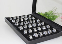 Wholesale High Quality Stainless Steel Ring Different Designs Mix Mens Titanium Steel Rings Box