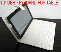 Wholesale Black White Stand Leather Case USB keyboard Stylus for quot Acer Iconia Tab A200 A501 A500 Tablet