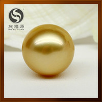 Wholesale Authentic nanyang seawater gold pearl bare bead mm light is round
