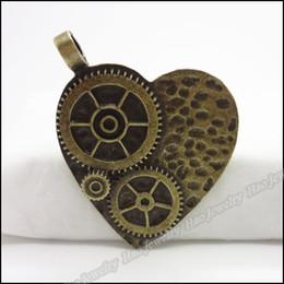 Vintage Charms love Heart Watch Pendant Antique bronze Alloy Bracelet Necklace DIY Metal Jewelry 15p