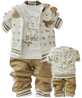 Wholesale Handsome children clothes baby suits boy Leisure suit pc outerwear T shirt pants kids outfit hoody