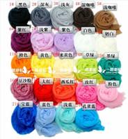 Wholesale Korean wrinkle scarf scarves all match candy color transparent elegant silk scarf color